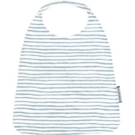 Elastic napkin child striped blue gray glitter