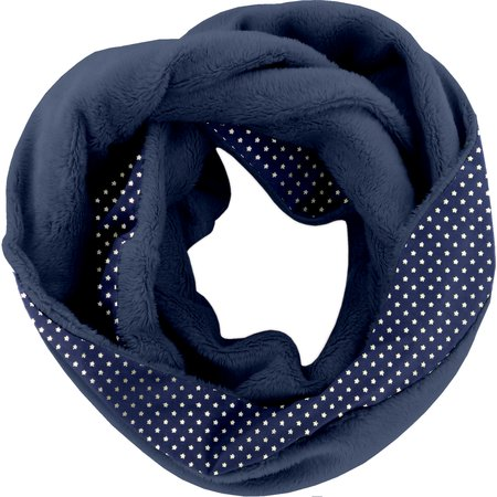 Snood polaire taille unique etoile marine or