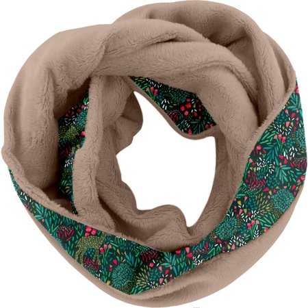 Fleece snood one-size biche pol.camel