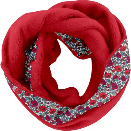 Fleece snood one-size coquelicot pol.rouge