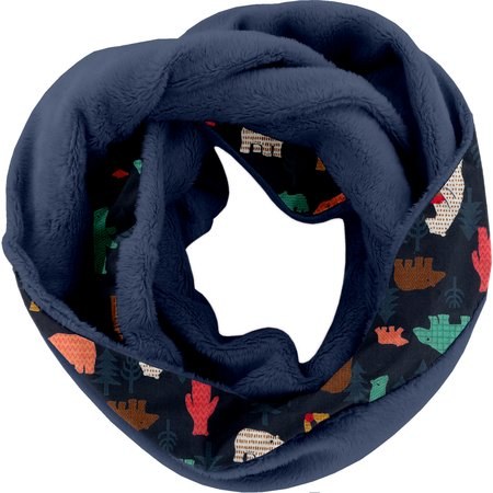 Fleece snood one-size grizzly