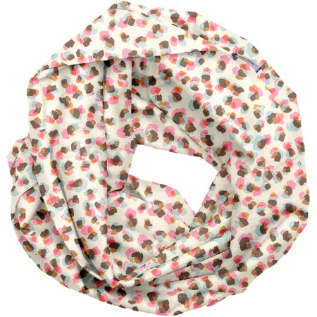 Fabric snood adult confetti aqua