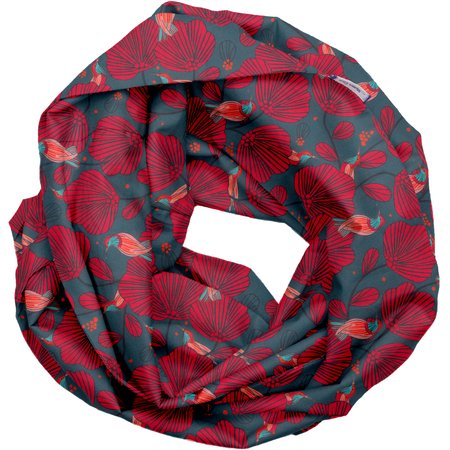Fabric snood adult oiseau de noël