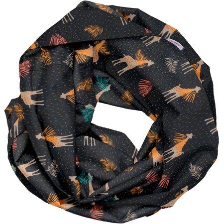 Fabric snood adult palma girafe
