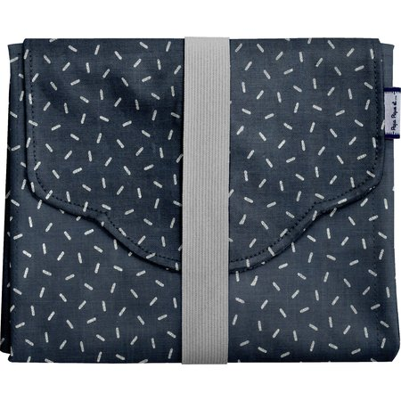 Changing pad silver straw jeans
