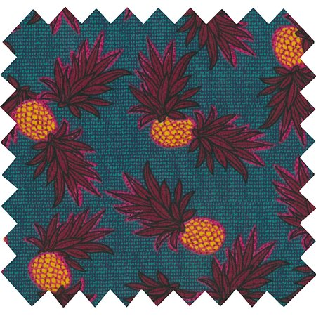 Cotton fabric pineapple party
