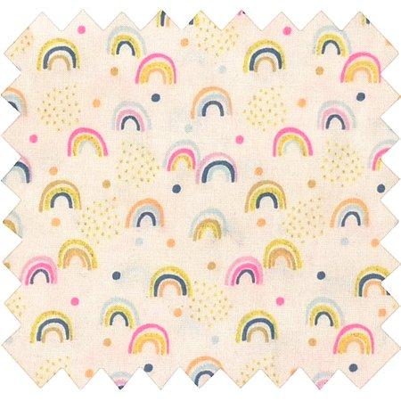 Cotton fabric rainbow
