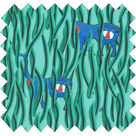 Tissu coton cache-cache babouin