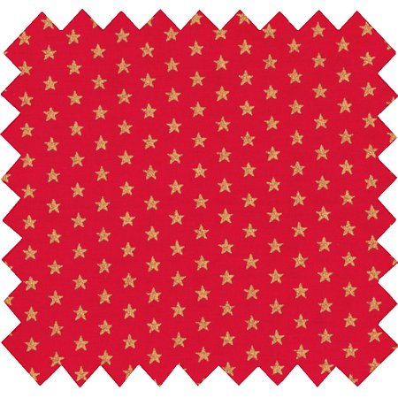 Cotton fabric etoile or rouge