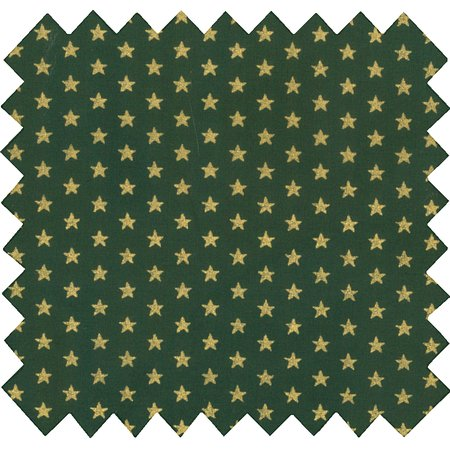 Cotton fabric etoile or vert