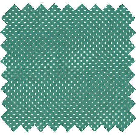 Tissu coton pois vert