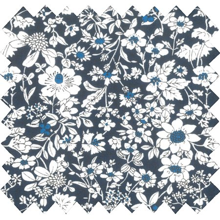 Cotton fabric violette pervenche marine ex1039
