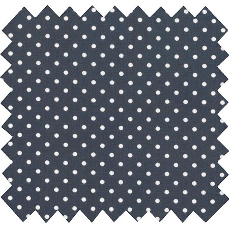 Cotton fabric pois blanc marine