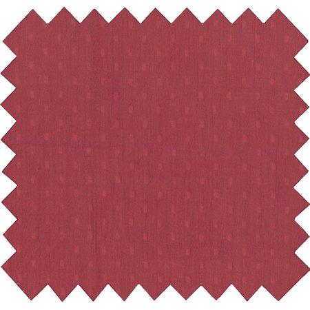 Tissu coton au mètre gaze plumetis terra cotta ex1070