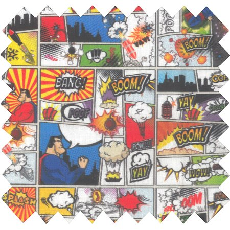 Tissu coton au mètre bd super heros ex1101