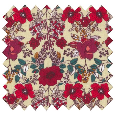 Cotton fabric coquelicot rouge