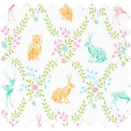Cotton fabric exd couronne animaux