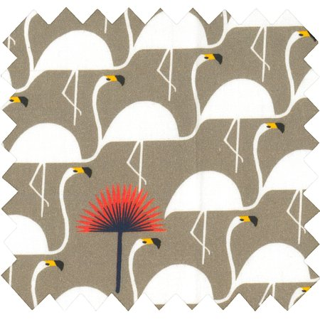 Cotton fabric flamingo