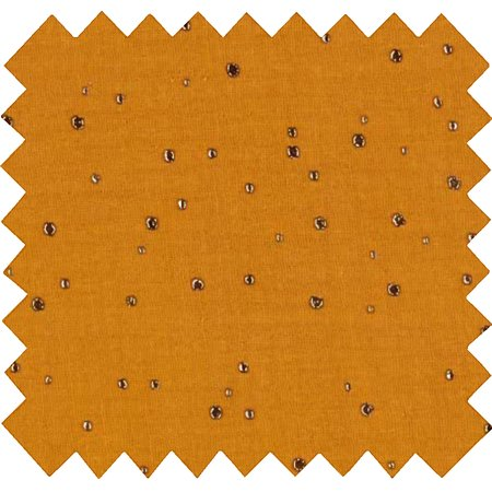 Cotton fabric gauze yellow  gold