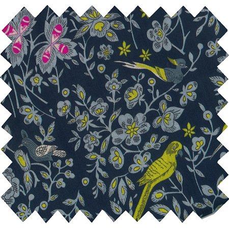 Cotton fabric night of birds