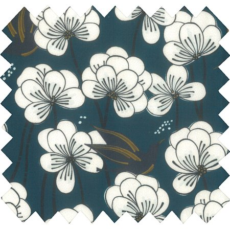 Tissu coton au mètre paradis bleu
