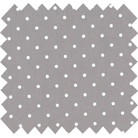 Cotton fabric light grey spots