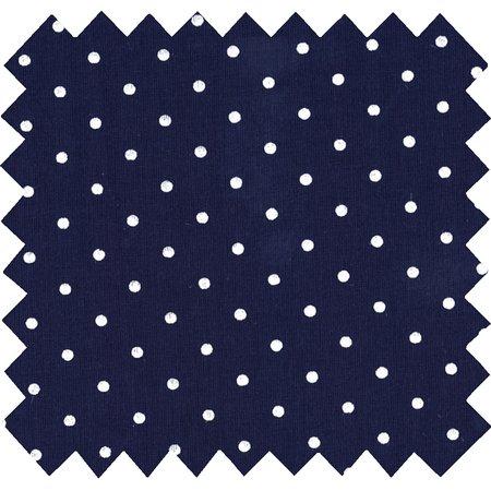 Tissu coton pois marine
