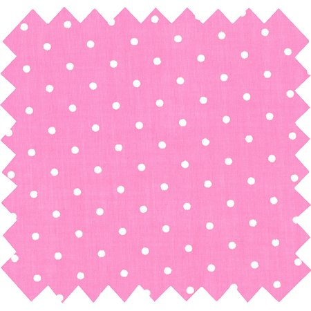 Cotton fabric pink spots