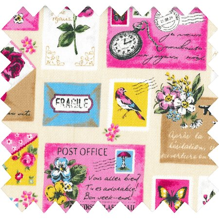Cotton fabric postal