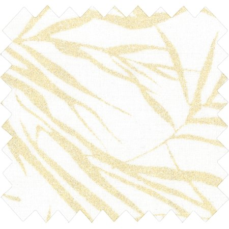 Tissu coton ramage or