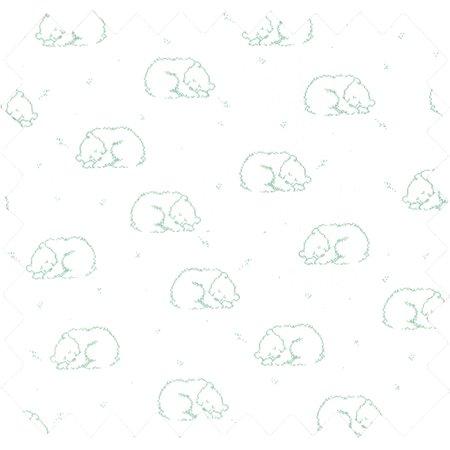 Cotton fabric gaze teddy blush vert