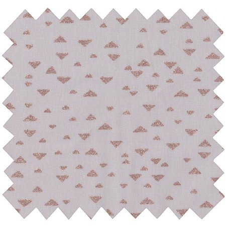 Cotton fabric triangle cuivré gris