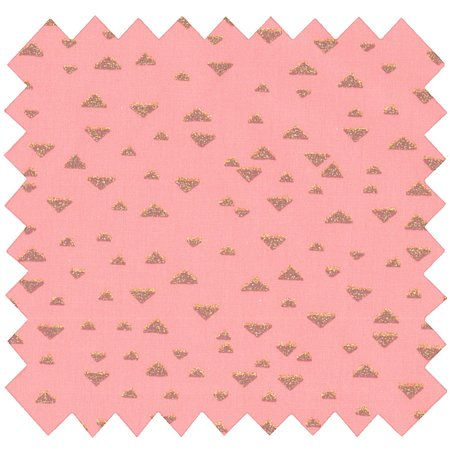 Coupon tissu 50 cm triangle or poudré