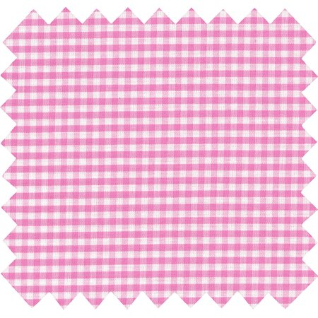 Cotton fabric fuschia gingham