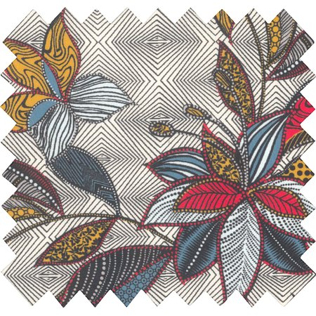 Tissu coton wax fleuri