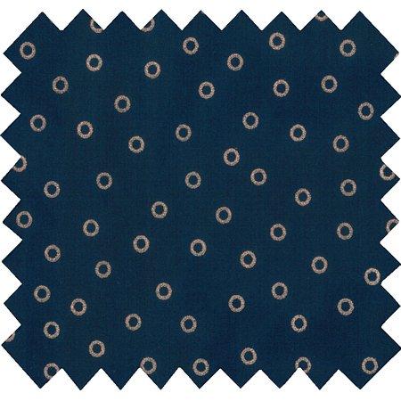 Coated fabric bulle bronze marine