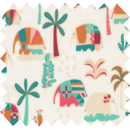 Coated fabric carnaval d'eléphants