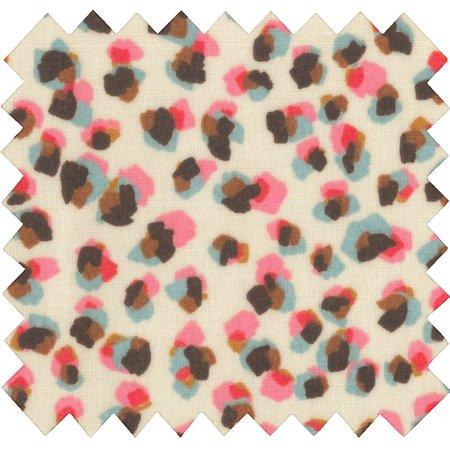 Tissu enduit confetti aqua