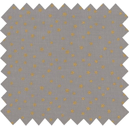 Coated fabric etoile or gris