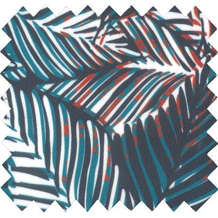 Coated fabric feuillage marine