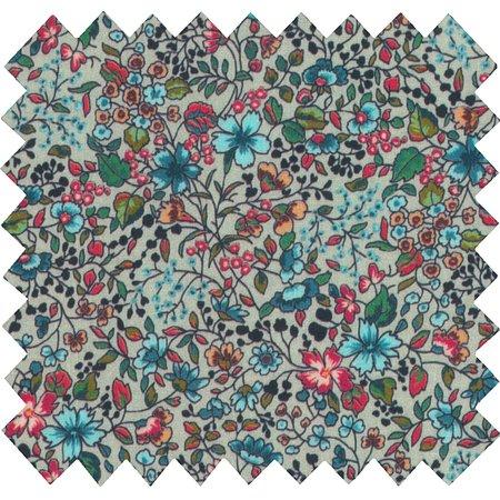 Tissu enduit fleur mentholé