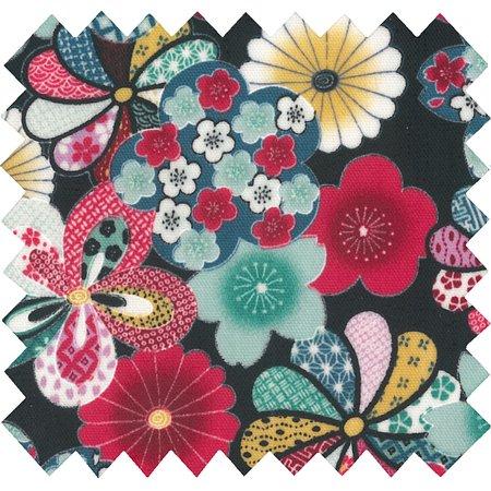 Tissu enduit fleurs du mékong