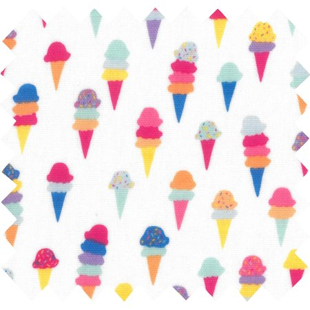 Tissu enduit  au mètre ice cream