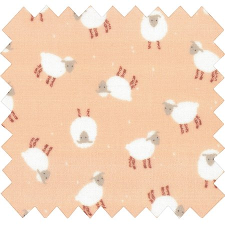 Coated fabric pink sheep