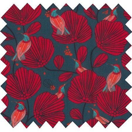 Coated fabric oiseau de noël