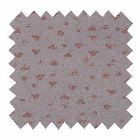 Coated fabric gray copper triangle
