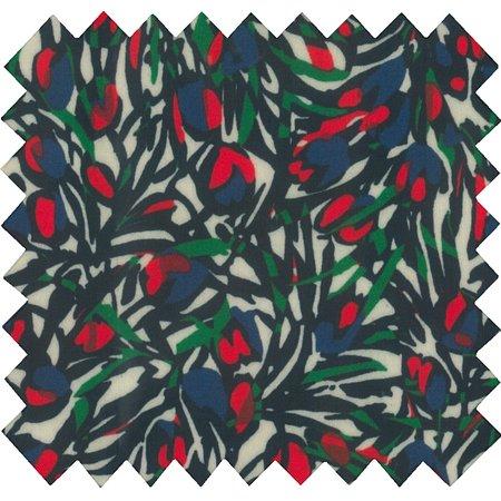 Tissu enduit  tulipes