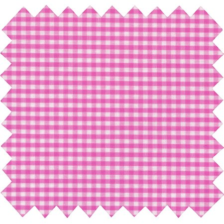 Coated fabric fuschia gingham
