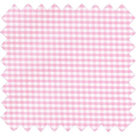 Tela plastificada cuadros vichy rosa