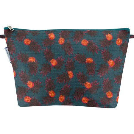 Cosmetic bag with flap pineapple party